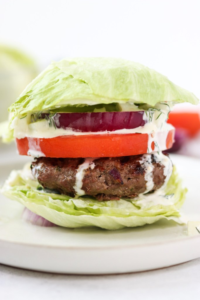 ground beef greek burgers