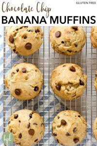 pin for banana chocolat chip muffins