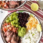 pin for beef burrito bowl