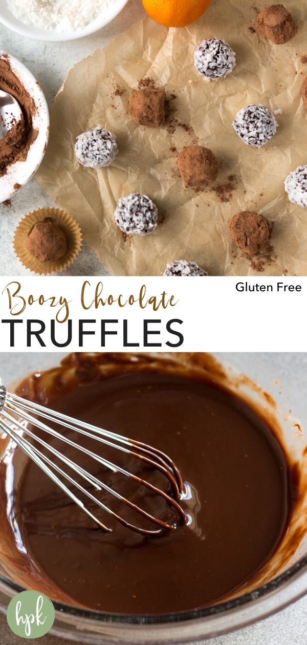 pin for boozy chocolate truffles recipes