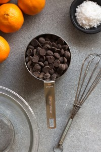 ingredients for chocolate covered orange slices