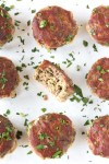 top down shot of paleo meatloaf muffins