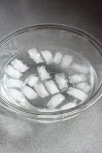 ice bath in a bowl