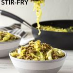pin for ground beef and cabbage stir fry