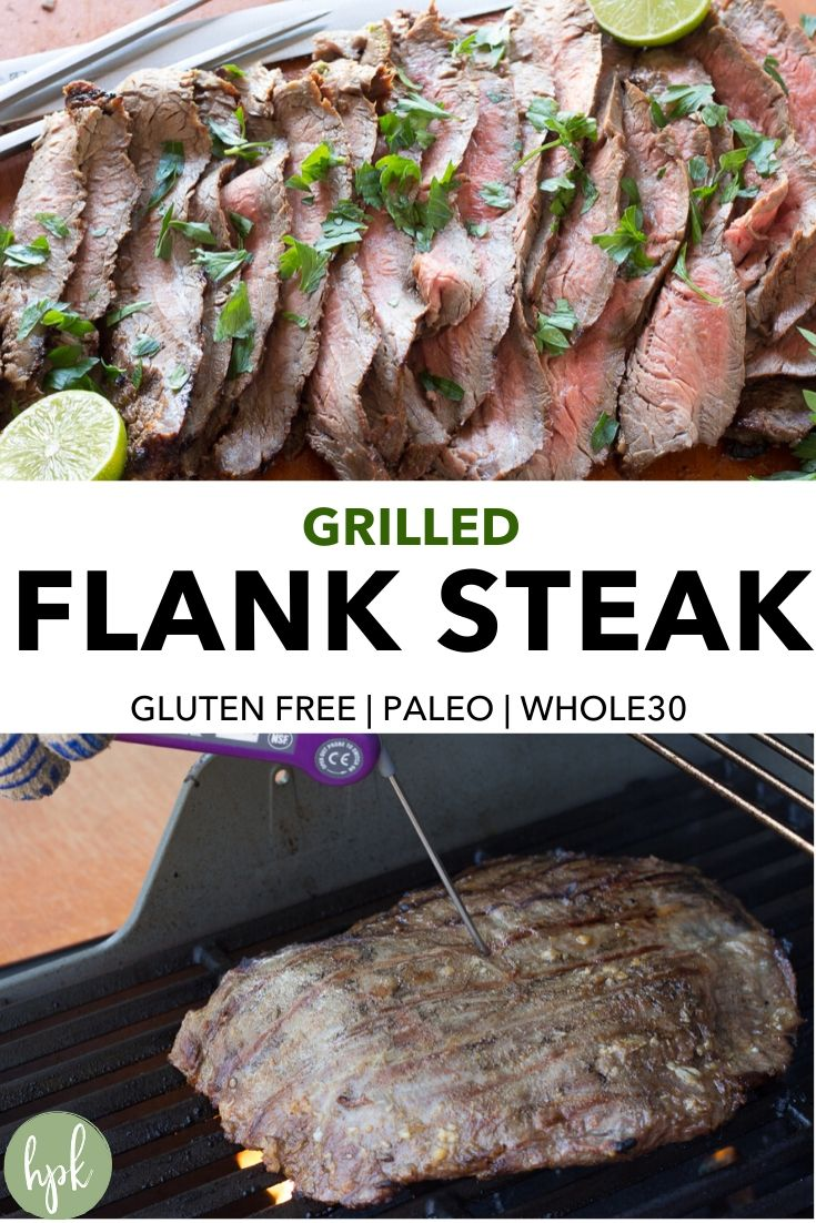 pin for grilled flank steak