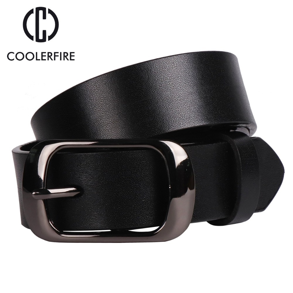 Womens strap casual all-match Women brief genuine leather belt women strap pure color belts Top quality jeans belt WH001,Balck,105cm