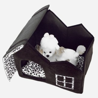 Super Soft British Style Pet House Size M Coffee