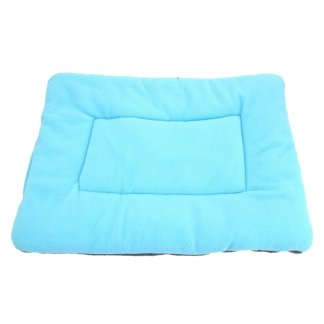 Washable Soft Comfortable Silk Wadding Bed for Pet Light Blue Size L