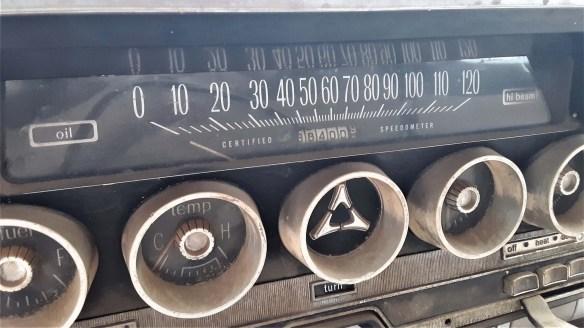 014 1962 dodge police car certified speedometer