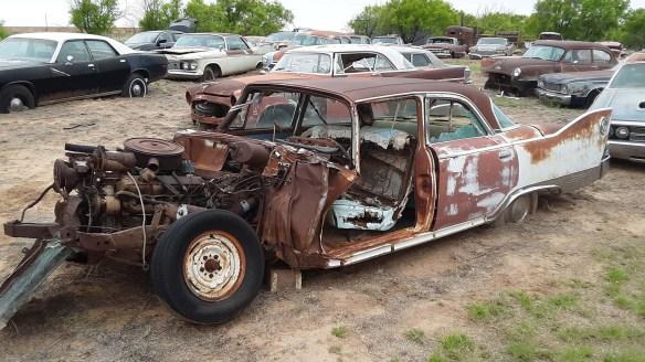 031 1960 plymouth fury crash car