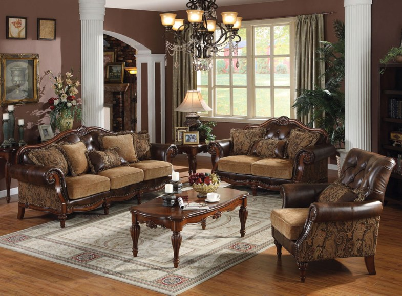 2pc Sofa Traditional Bonded Leather Living Room   Hot Sectionals