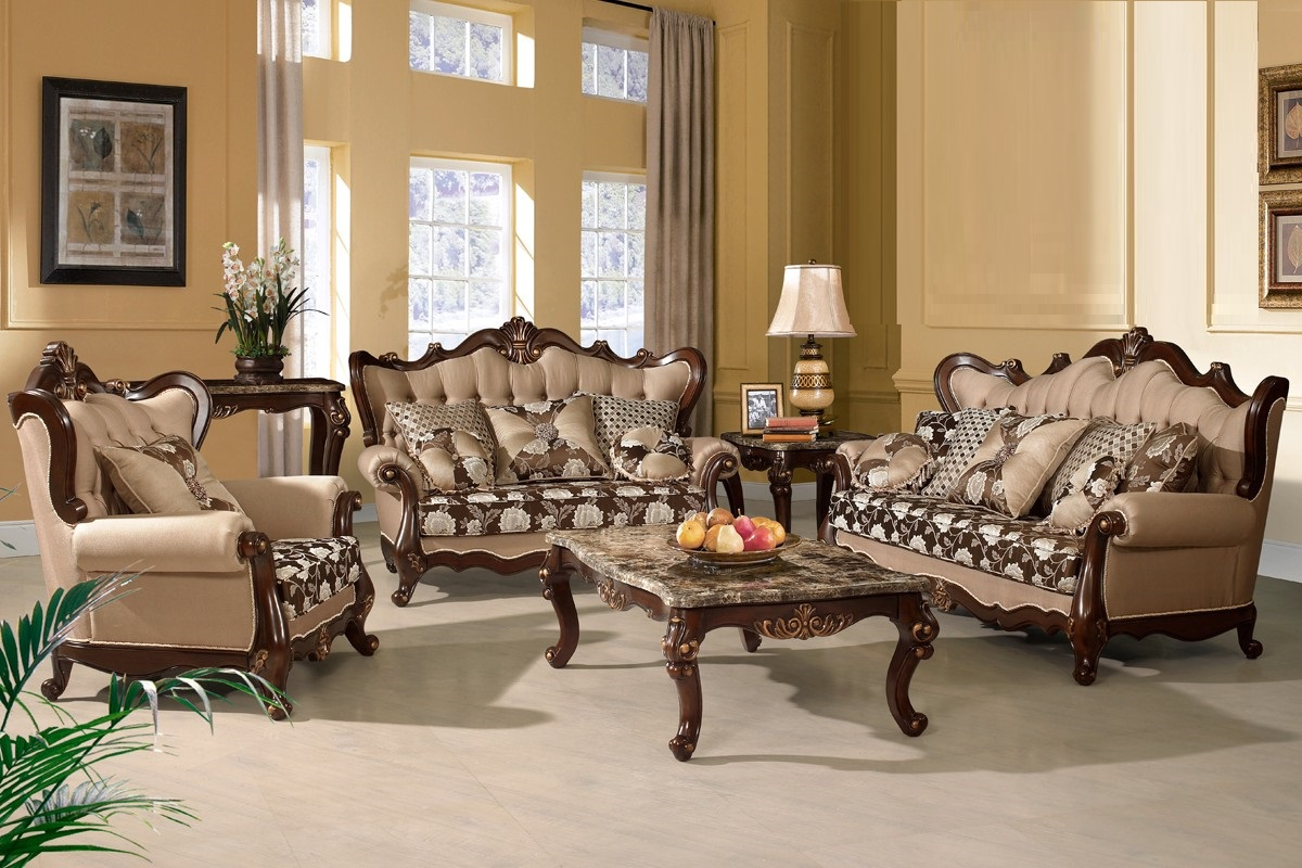 Traditional Formal Sofa Set Antique Furniture Hot Sectionals