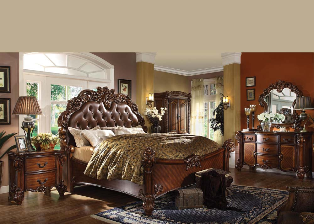 Vendome Cherry King Bedroom Set Acme 21994ck Hot Sectionals