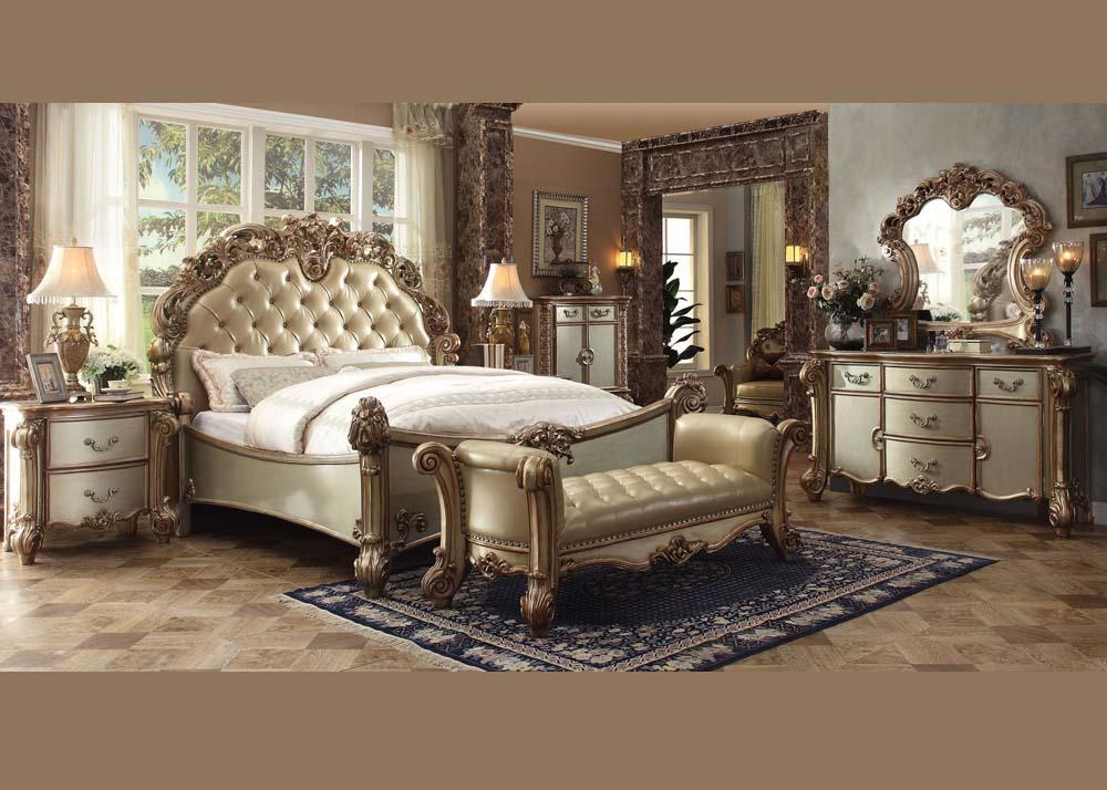 Acme Furniture Queen Bedroom Set Gold #23000Q   Hot Sectionals