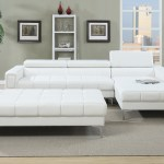 2pc Sectional Sofa Chaise White Poundex Hot Sectionals