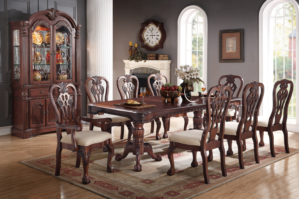 Antique Formal Dining Poundex F2198 Hot Sectionals