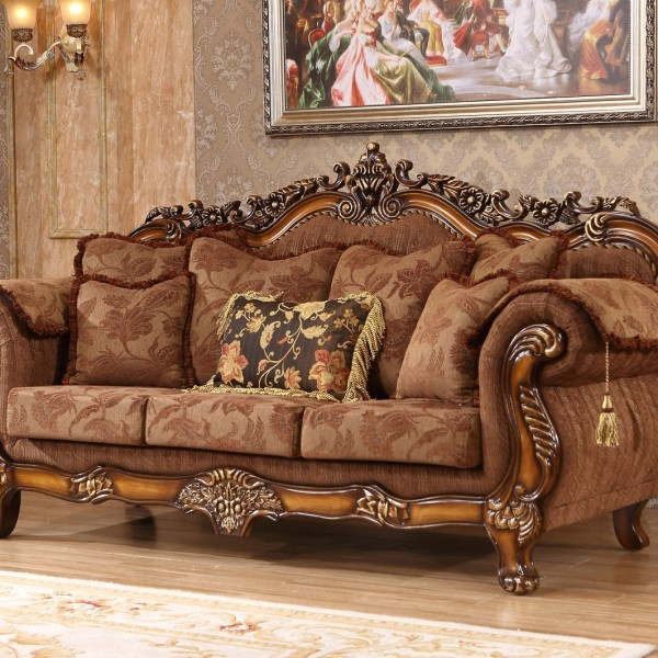 Traditional Sofas Living Room Furniture: Cherry Traditional Sofa Living Room Furniture