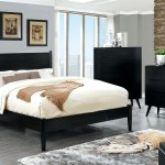 Foa Black 4pc Bed Set Cal King Size Cm7386bk Hot Sectionals