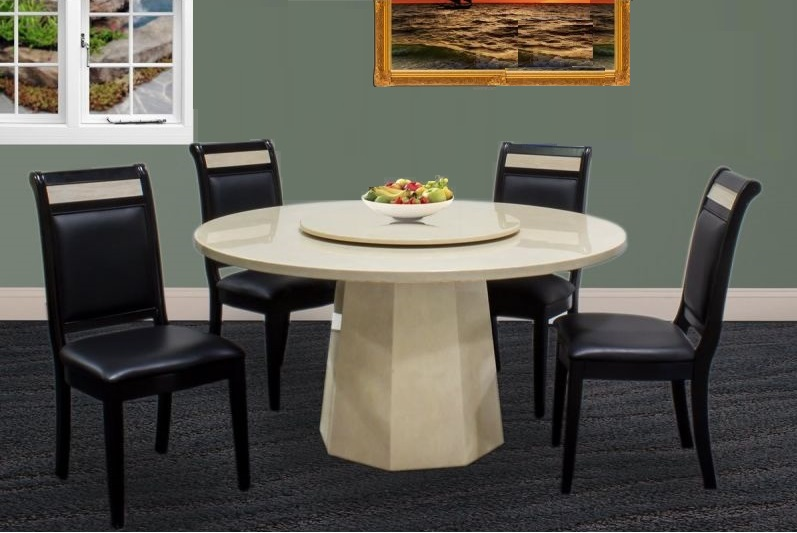 4pc Set Contemporary Design Espresso Finish Faux Leather Dining Room Side  Chairs