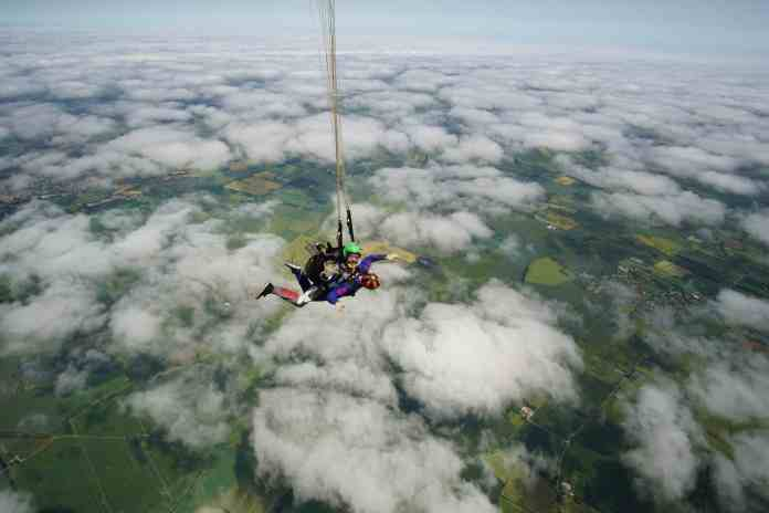 Parachute skydiving