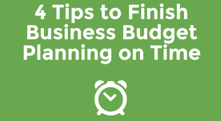 Title image to article about business budget planning