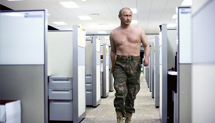 Putin around the office