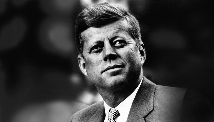 John F. Kennedy, yet another attractive president