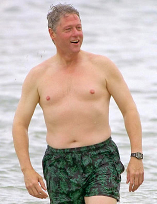 Bill Clinton in bathing suit