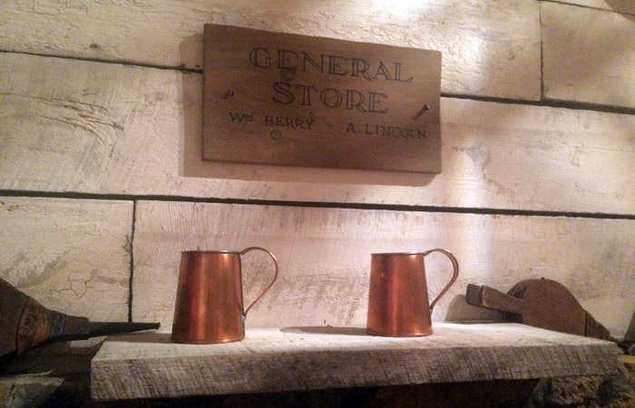 Copper mugs at the Abraham Lincoln Presidential Library and Museum