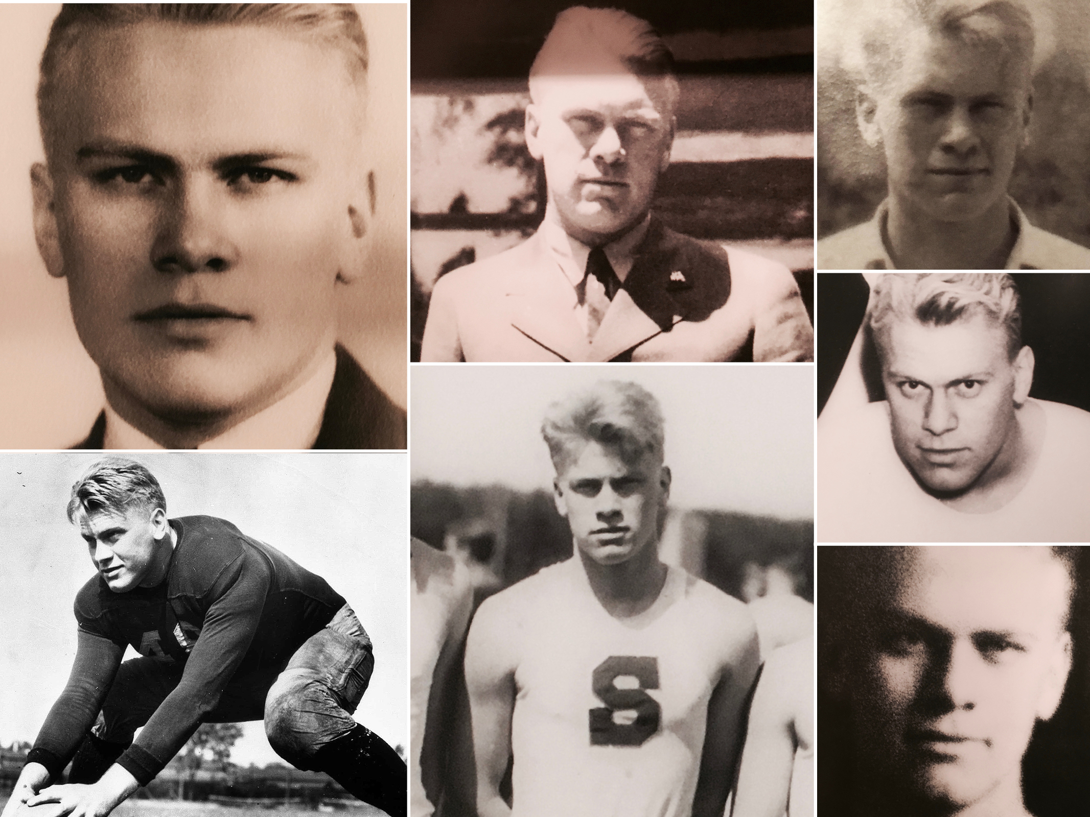 Young Gerald Ford collage