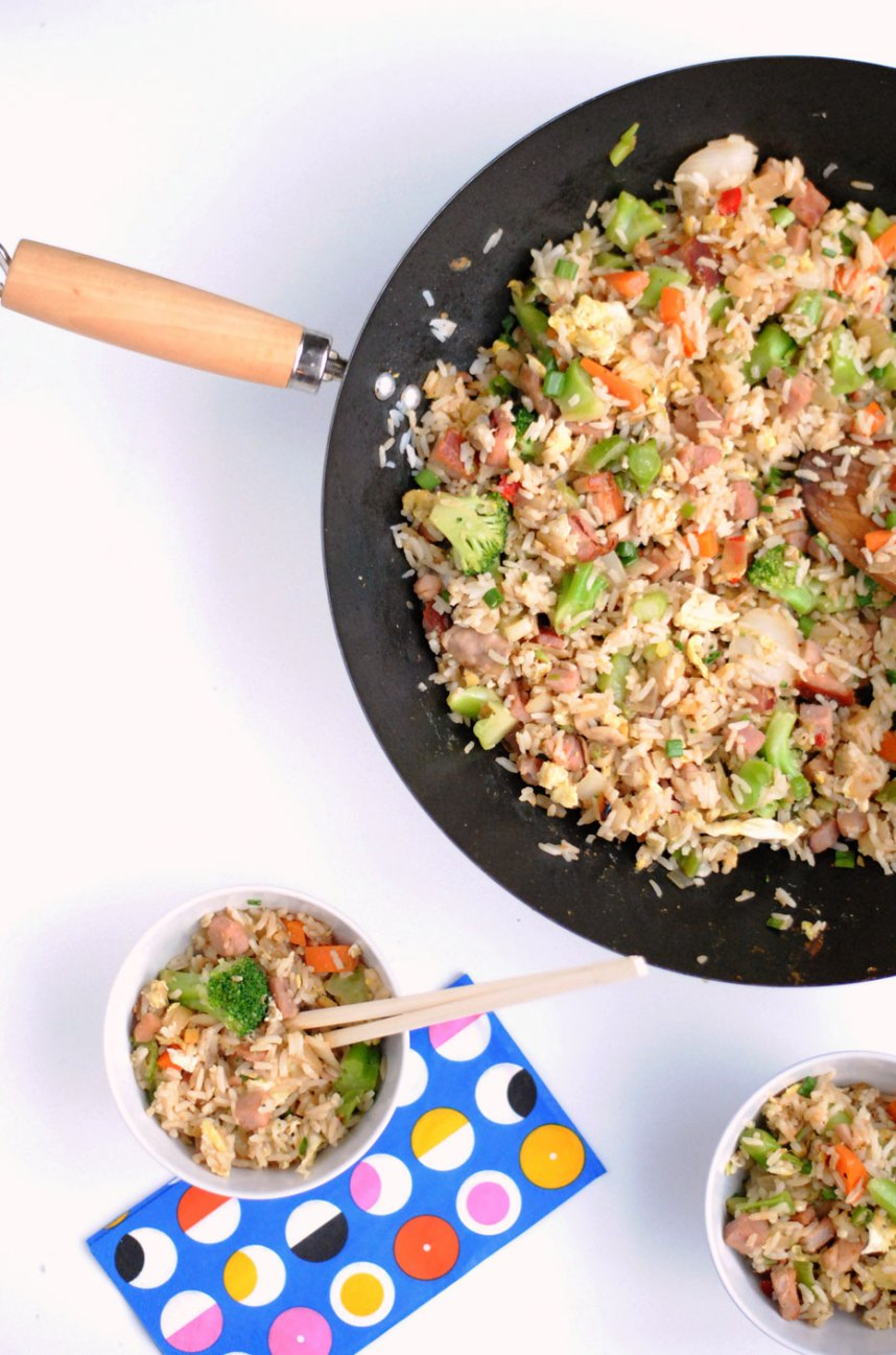 Ham and Vegetable Fried Rice | Hottie Biscotti