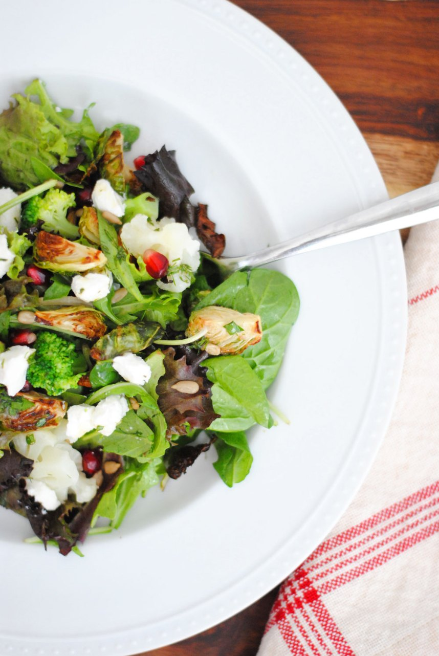 Fall Vegetable Salad with Dill Vinaigrette | Hottie Biscotti