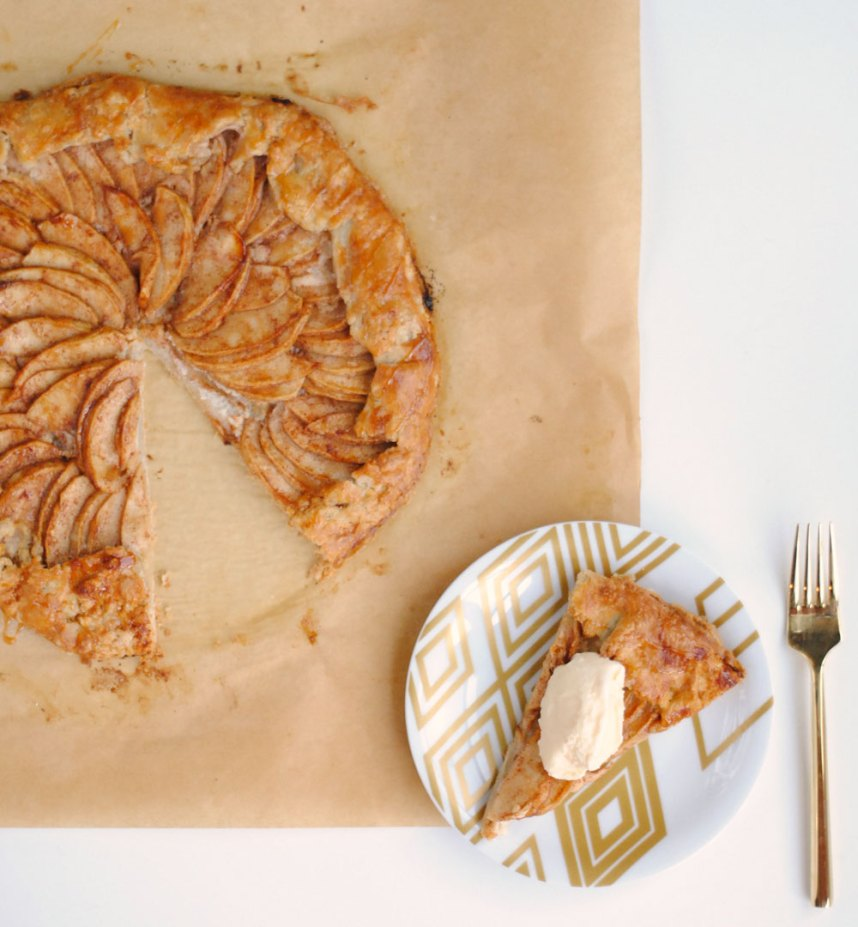 FLEUR DE SEL CARAMEL AND CREAM CHEESE APPLE GALETTE | Hottie Biscotti