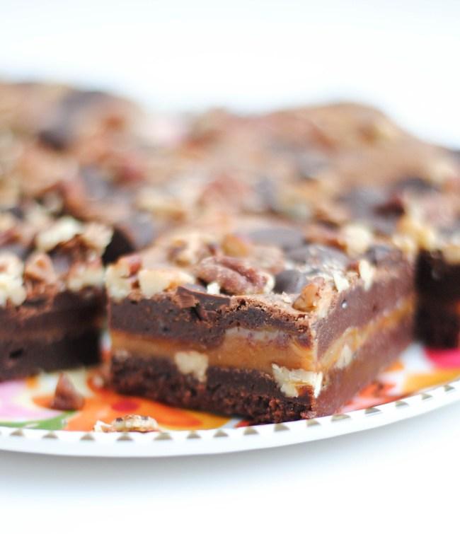 Caramel Filled Brownies-7