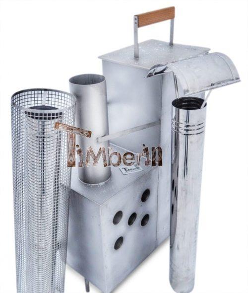 Interne roestvrij staal kachel voor hot tubs