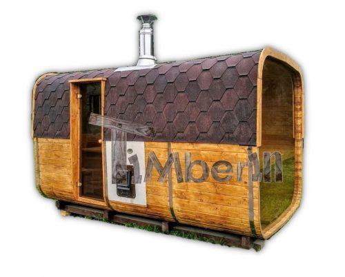 Rechthoekige Buitentuin Sauna TimberIN