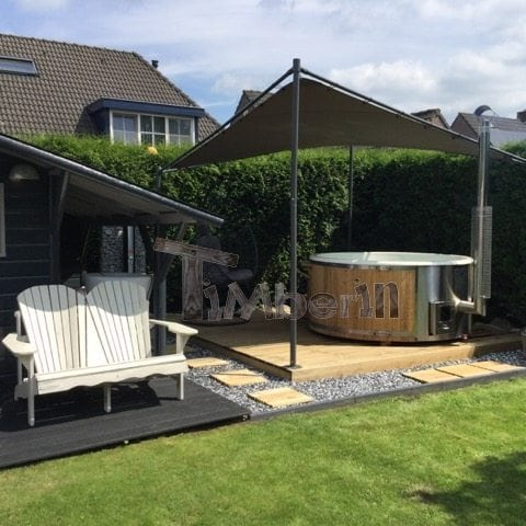 Hottub Fiberglas Met Geïntegreerde Kachel Tom Middelbeers Netherlands 1