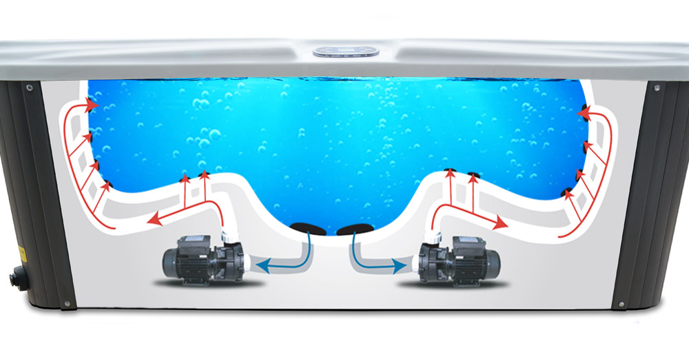 Cloud Stream 6 Person Hot Tub - Powerful Pumps Water Flow