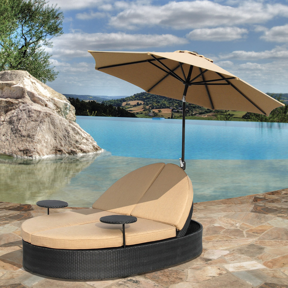 Solara Outdoor Patio Double Chaise Lounge Hot Tubs And Pool Tables Outlet Hot Tubs And Pool
