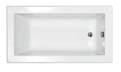Sea Spa Tubs S3266VN Tubs Venetian 32 By 66 By 23 Inch Rectangular Soaking Bathtub White