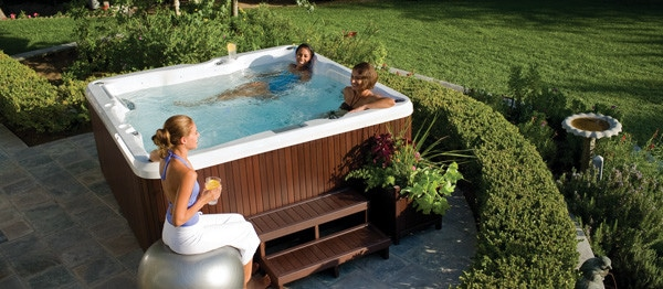 Weekly hot tub maintenance
