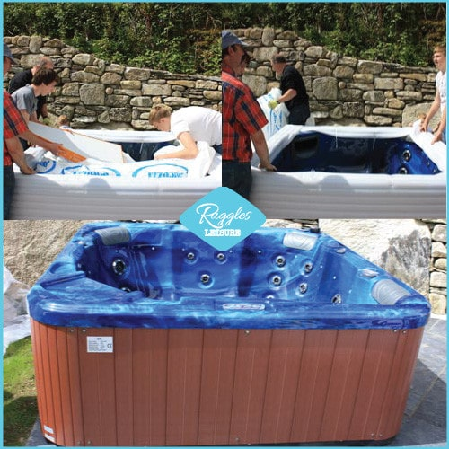 Unwrapped hot tub