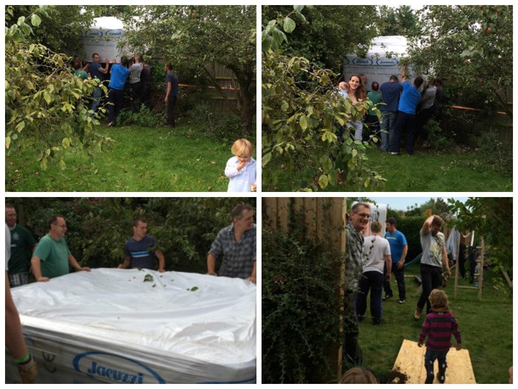 getting Skye's hot tub wish into the garden