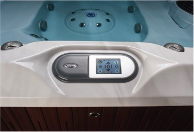 Jacuzzi J-400 touchpad top view