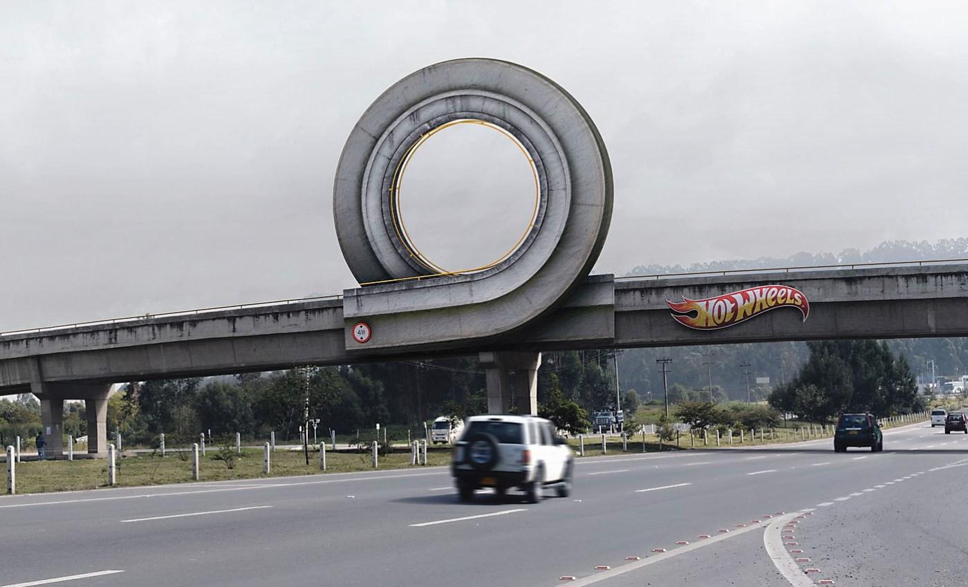 Ces publicités géantes pour Hot Wheels aux Etats Unis