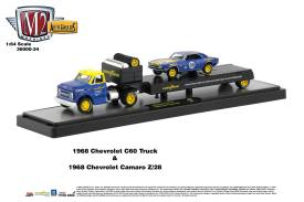 M2-Machines-Auto-Haulers-34-1968-Chevrolet-C60-Truck-Goodyear-1968-Chevrolet-Camaro-Z28