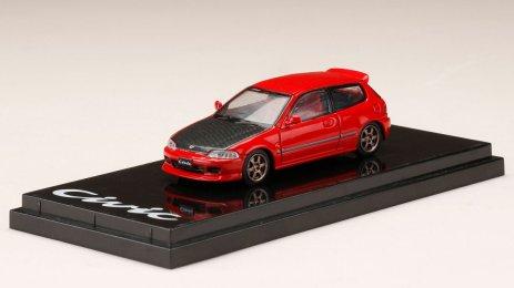 Honda-Civic-EG6-Custom-Version-Carbon-Bonnet-Red-001