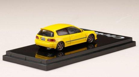 Honda-Civic-EG6-Custom-Version-Carbon-Bonnet-Yellow-002