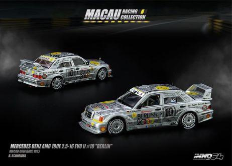 Inno-64-Macau-Grand-Prix-2019-Special-Mercedes-Benz-AMG-190E-2-5-16-EVO-II-10-Berlin-Macau-Guia-Race-1992-B-Scheneider