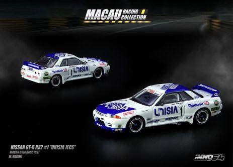 Inno-64-Macau-Grand-Prix-2019-Special-Nissan-Skyline-GT-R-R32-1-Unisia-Jecs-Macau-Guia-Race-1991-M-Hasemi